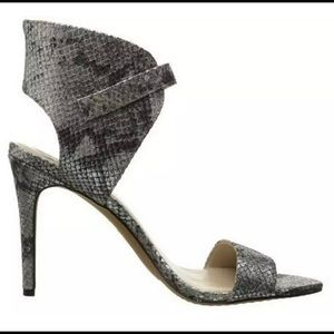 Vince Camuto Tarma leather embossed snake ankle
